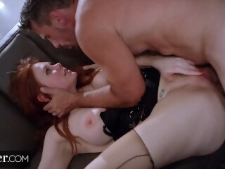deeper big boobs ass fuck riding dick redhead